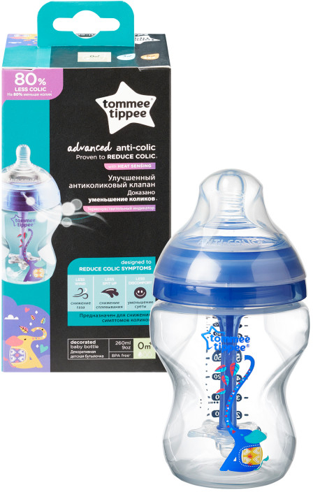 TOMMEE TIPPEE Antikolikova fľaša Advanced 260 ml modrá