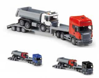 EMEK Scania Low Loader With Dump Truck 30810 1:25